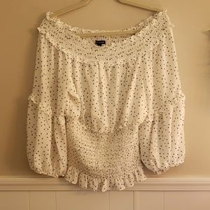 Max edition off the shoulder blouse size Large